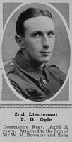 Ogle T B 2nd Lt 2nd Dorset Regt The Sphere 29th Apr 1916