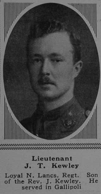 UK Photo Archive: K &emdash; Kewley J T Lt 6th The Loyal North Lancashire Regiment The Sphere 3rd Mar 1917
