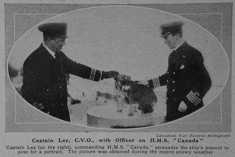 UK Photo Archive: L &emdash; Ley J C Captain CVO HMS Canada Royal Navy The Sphere 10th Mar 1917