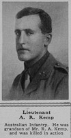 Kemp A R Lt 41st Australian Infantry The Sphere 14th July 1917