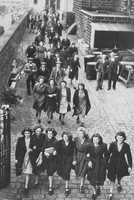Lancashire Girls Leaving The Cotton Mills Ater Work 1940s