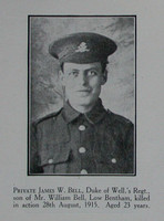 Bell J W Pte 6th West Riding Regt Craven Roll Of Honour