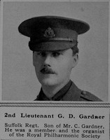 Gardner G D 2nd Lt 9th Suffolk Regiment The Sphere 2nd Dec 1916