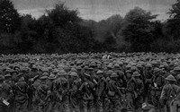 A Chaplain Addressing Canadian Soldiers On Dominion Day 1917