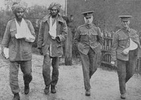 Wounded Indian And British Soldiers In England