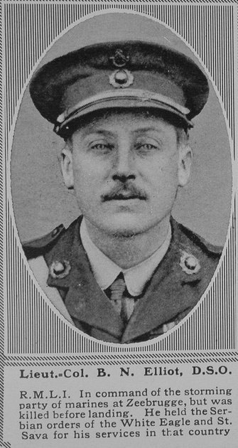 UK Photo Archive: E &emdash; Elliot B N Lt Col DSO RMLI The Sphere 11th May 1918