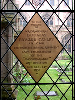 Cayley D E Major Gen General Staff Memorial Window Worcester Cathedral