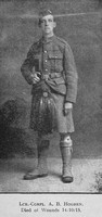 Hogben A B LCpl 2943 14th London Regiment The London Scottish Regimental Gazette