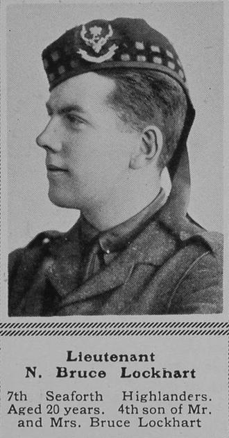UK Photo Archive: B &emdash; Bruce-Lockhart N Lt 7th Seaforth Highlanders The Sphere 13th Nov 1915