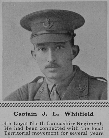 UK Photo Archive: W &emdash; Whitfield J L Captain 4th Loyal North Lancs Regiment The Sphere 31st Jul 1915