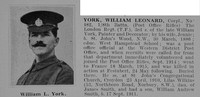 York W L Cpl 482 8th London Regiment Obit De Ruvignys Roll Of Honour Vol 1