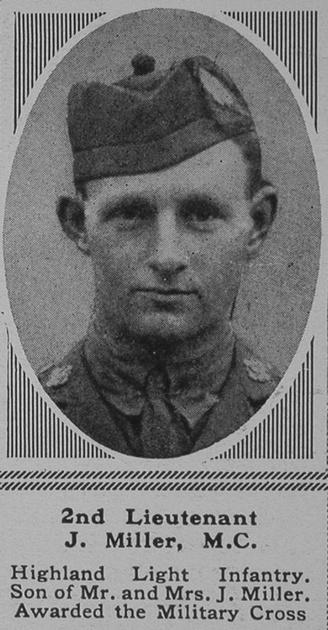 UK Photo Archive: M &emdash; Miller J 2nd Lt MC The Sphere 20th Sep 1917