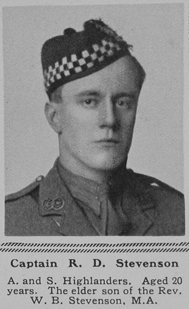 UK Photo Archive: S &emdash; Stevenson R D Captain 11th Argyll & Sutherland Highlanders The Sphere 8th July 1916