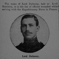 Dalmeny A E H M A 2nd Lt Lord Grenadier Guards The Graphic 31st July 1915
