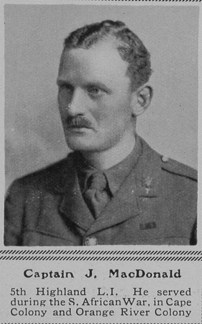 UK Photo Archive: M &emdash; MacDonald J Captain 5th HLI The Sphere 18th Sep 1915