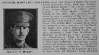 Haggar H D F Lt 3rd Loyal North Lancs Regt Obit Part 1 De Ruvignys Roll Of Honour Vol 3