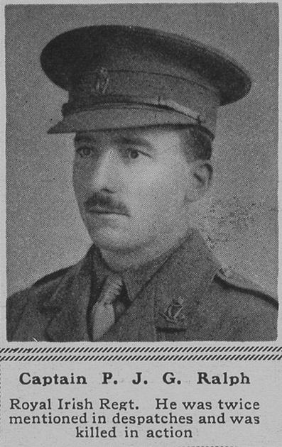 UK Photo Archive: R &emdash; Ralph P J G Captain R Irish Regt The Sphere 20th Sep 1917