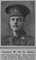 Raley W H G Captain Yorkshire Regiment The Sphere 14th Aug 1915