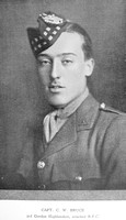 Bruce C W Captain Royal Flying Corps Downside In The War