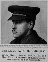 Kelk A F H 2nd Lt MC 14th Welsh Regt The Sphere 28th Apr 1917