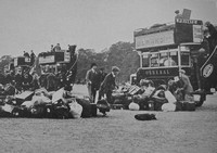 The Royal Fusiliers (Public Schools Battalions) Boarding uses In Hyde Park To Take Them To Epsom