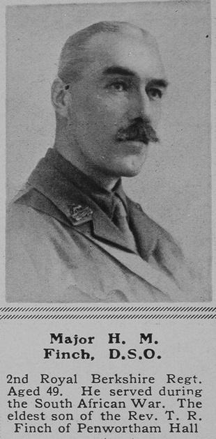 UK Photo Archive: F &emdash; Finch H M Major DSO 2nd Royal Berkshire Regiment The Sphere 19th Jun 1915
