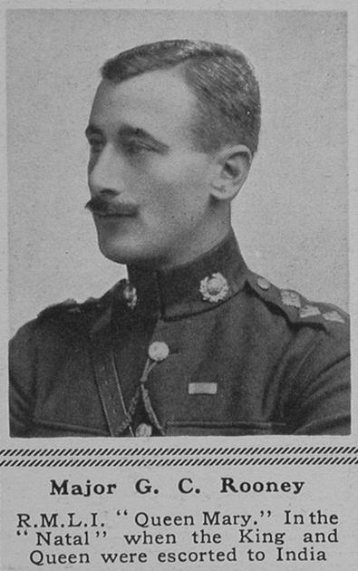 UK Photo Archive: R &emdash; Rooney G C Major H.M.S. Queen Mary Royal Marine Light Infantry  The Sphere 22nd Aug 1916