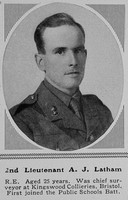 Latham A J 2nd Lt RE The Sphere 18th Mar 1916