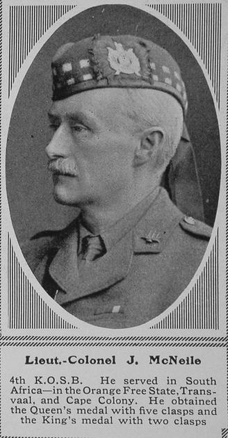 UK Photo Archive: M &emdash; McNeile J Lt Col 4th KOSB The Sphere 4th Sep 1915