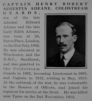 Adeane H R Captain Coldstream Guards Obit Part 1 The Bond Of Sacrifice Vol 1