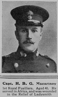 Macartney H B G Captain 1st Royal Fusiliers The Sphere 14th Aug 1915