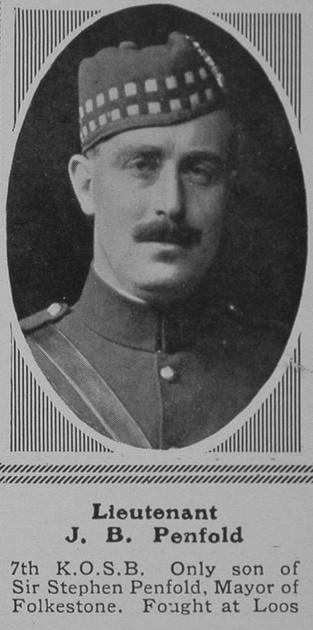 UK Photo Archive: P &emdash; Penfold J B Lt 7th KOSB The Sphere 4th Mar 1916