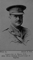 Bray A Lt Col Royal Engineers Leeds In The Great War 1914-1918. A Book Of Remembrance.