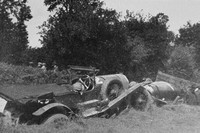 The Crash At White Horse Corner Le Mans 1927