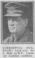 Hall F Lt Col Sir Royal Field Artillery The Graphic 26th Nov 1918