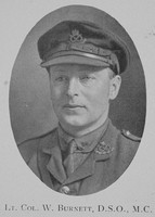 Burnett W Lt Col DSO MC 5th North Staffs Regiment The Fifth North Staffords