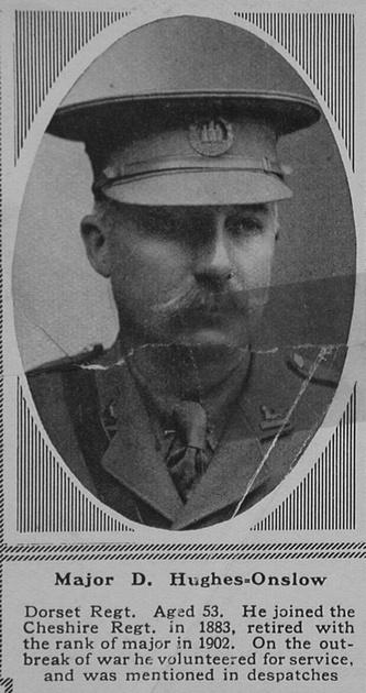 UK Photo Archive: H &emdash; Hughes-Onslow D Major 6th Dorsetshire Regiment The Sphere 23rd Sep 1916