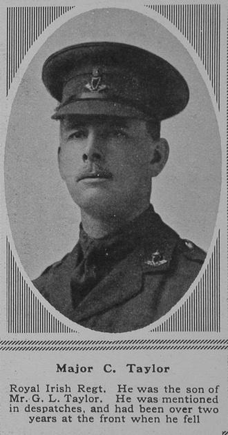 UK Photo Archive: T &emdash; Taylor C Major R Irish Regt The Sphere 3rd Nov 1917