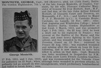 Monteith G Captain 1st Gordon Highlanders Obit De Ruvignys Roll Of Honour Vol 2