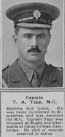 Tapp T A Captain MC Coldstream Guards attd MGC The Sphere 22nd Dec 1917