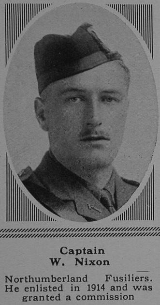 UK Photo Archive: N &emdash; Nixon W Captain 20th Northumberland Fusiliers ((Tyneside Scottish) The Sphere 24th Feb 1917