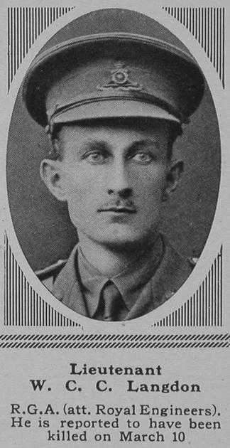 UK Photo Archive: L &emdash; Langdon W C C Lt RGA The Sphere 12th May 1917