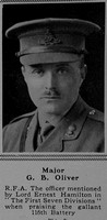 Oliver G B Major Royal Field Artillery The Sphere 18th Nov 1916