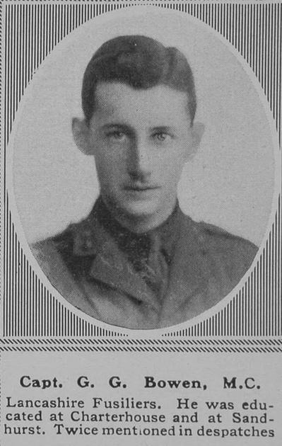 UK Photo Archive: B &emdash; Bowen G G Captain MC Lancashire Fusliers The Sphere 5th Oct 1918