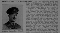 Tiptaft W R Lt 3rd West Riding Regiment Attd Machine Gun Corps Obit Part 1 De Ruvignys Roll Of Honour Vol 5