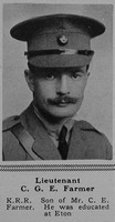 Farmer C G E Lt 7th King's Royal Rifle Corps The Sphere 30th Dec 1916