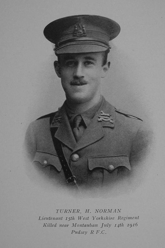 UK Photo Archive: Yorkshire Rugby Union Roll Of Honour 1914-1918 &emdash; Turner H N Lt 12th West Yorkshire Regiment