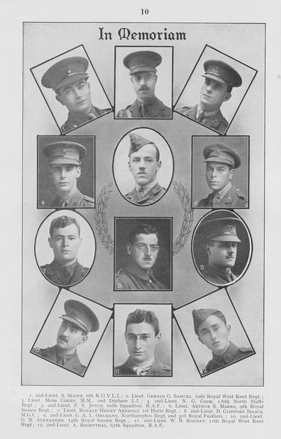 UK Photo Archive: British Jewry Book Of Honour 1914-1918 &emdash; British Jewry Book Of Honour Page 10