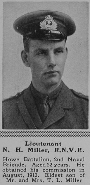 UK Photo Archive: M &emdash; Miller N H Lt Howe Bn RN Div RNVR The Sphere 24th Jul 1915
