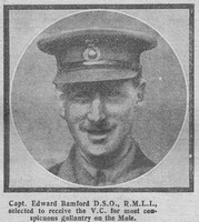 Bamford E Captain VC DSO Royal Marine Light Infantry The Graphic 24th July 1918